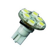 Wedge Base Back-Mount 6-LED Bulb