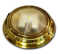 "6.75"" LED Cabin Dome Light - Stainless Steel or Titanium Brass"