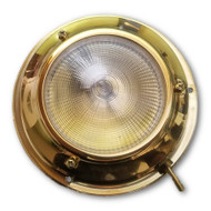 Titanium Nitride surface mount LED dome light (non-tarnishing Brass finish)