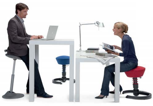 Active Sitting Ergonomic Chairs for Height-Adjustable Work Surface