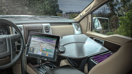 mobile office laptop desks tablet mounts car desks rh healthyposturestore com Portable Car Desk Car Office Desk