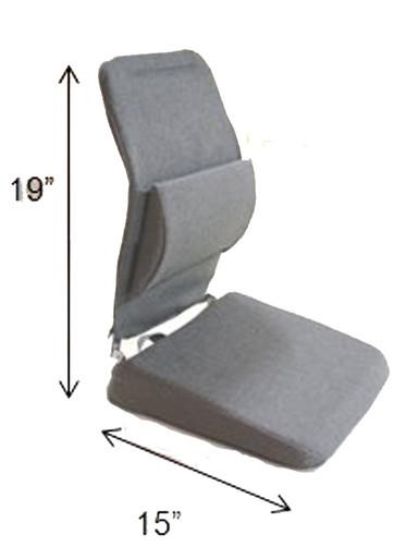 Sacro Ease Lifting Wedge Seat Cushion & Back Support