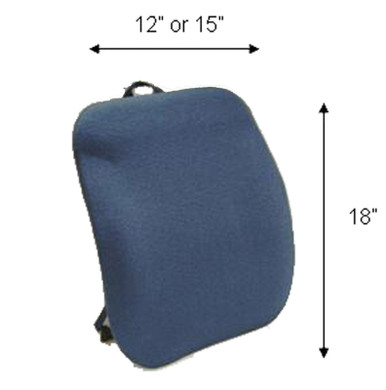 "Sacro Ease Keri Back, Back Cushion For Car Seat or Chair - Mccarty's - KBN (12""), KBT (15"")"