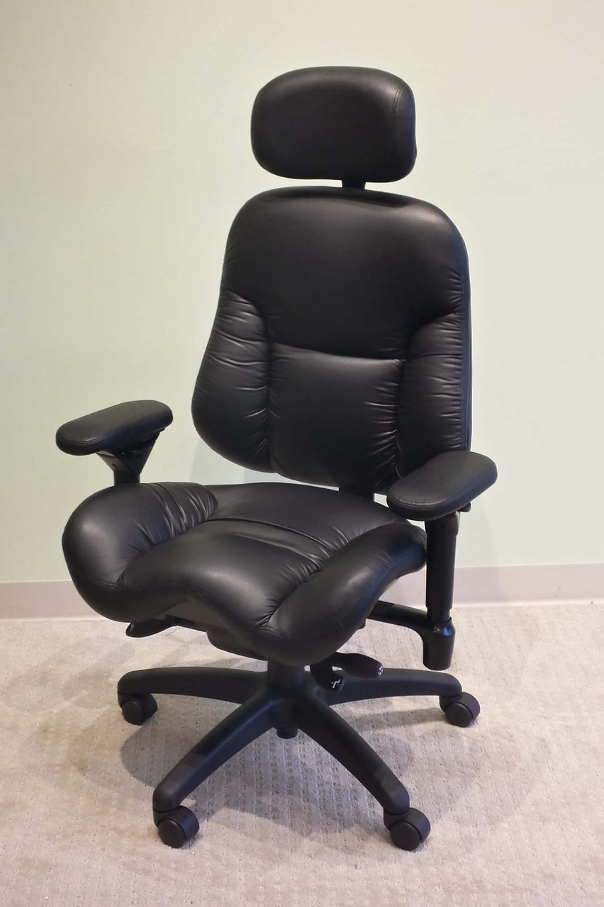 BodyBilt 3500 Executive High Back Leather Chair By ErgoGenesis