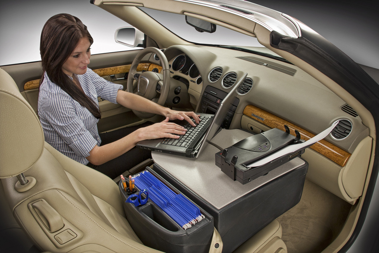 Autoexec Roadmaster Car 02 Desk With Printer Stand Standard Gray