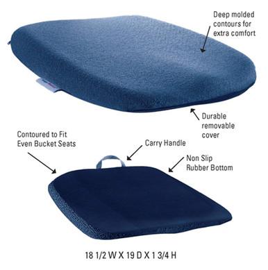 Sacro Ease Ergo Comfort Rider Vehicle Seat Cushion ( Large Bottom)