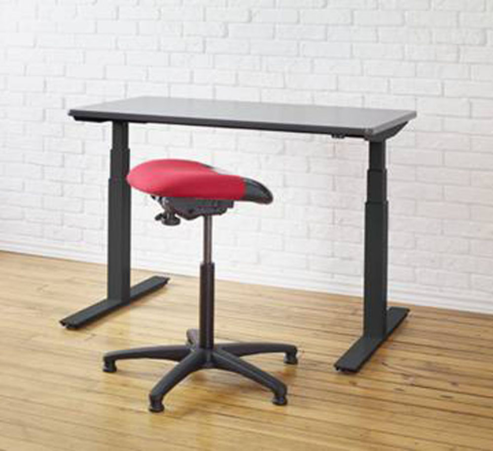 Ergonomic sit stand desk stool by ergocentric healthy for Chairs for standing desks