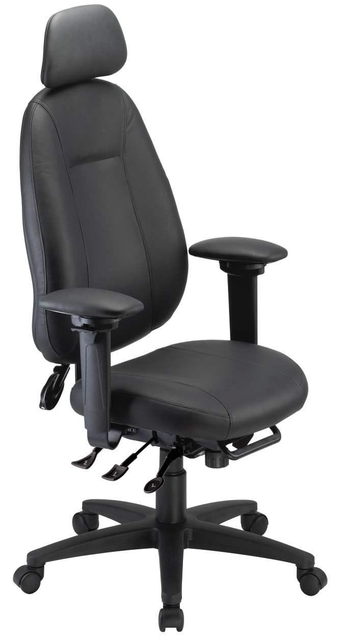 Gentil ErgoCentric ECentric High Back Executive Chair With Headrest