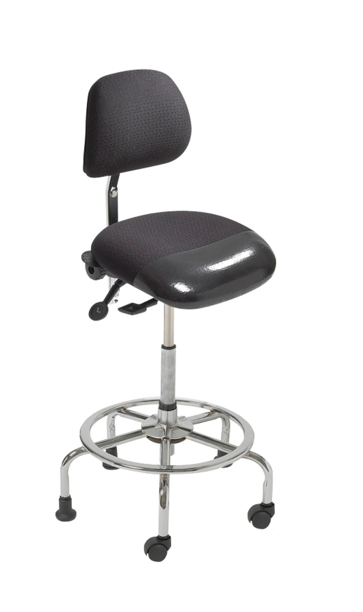 ErgoCentric 3 In 1 Sit Stand Chair With Foot Rest Ring