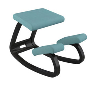 Varier Chair Variable balance , Turquoise w/ Black Frame