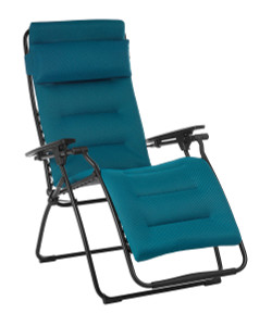 Lafuma Futura Coral Blue Air Comfort Recliner Lounge Chair