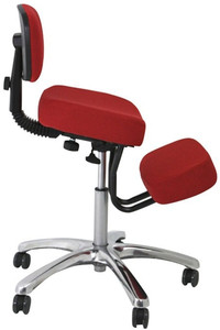 Jobri F1446 Jazzy RED, Kneeling Chair with Backrest