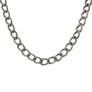 Vintage 925 Sterling Silver Heavy Necklace Patina