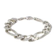 65.5G Sterling Silver 925 Figaro Bracelet Italy