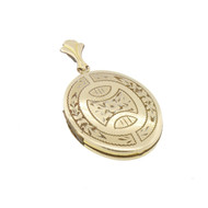 Vintage 12K Gold Filled Engraved Locket Pendant  Signed
