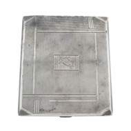 Art Deco Sterling Silver Cigarette Case UK Birmingham 1934 Charles Green