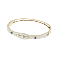 Art Deco 18k & 14k Gold Diamond Bangle Bracelet Jeweler Piece