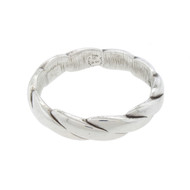 FREDERIC JEAN DUCLOS STERLING SILVER ROPE TWIST BANGLE BRACELET 925