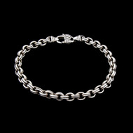 Designer Signed Sterling Silver 925 Bracelet Double Curb Link Well Made