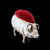 Antique Vintage Sterling Silver Adie & Lovekin Pig Pin Cushion Birmingham 1905