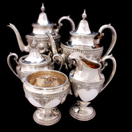 RARE Wallace Sir Christopher Sterling Silver Tea/Coffee Set 4050