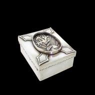 Antique Austria Or Russian Sterling Silver Judaica Snake Asp Tree Trinket Box