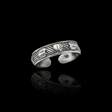 Sterling Silver Solid Hearts Toe Ring