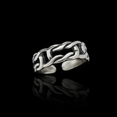 Sterling Silver Celtic Sea Knot Toe Ring