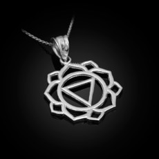 Sterling Silver Manipura Chakra Yoga Pendant Necklace