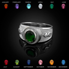 Sterling Silver Cash Money Dollar CZ Birthstone Ring