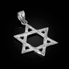Sterling Silver Jewish Star of David DC Pendant