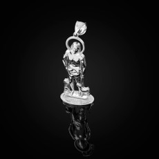 Sterling Silver St. Lazarus of Bethany Statuette Pendant