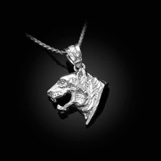Sterling Silver Tiger Head DC Charm Necklace
