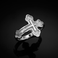 Sterling Silver Eastern Orthodox Cross Ring