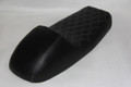 Black cover with White stitching seat
