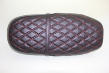 low profile Black seat with Red stitching
