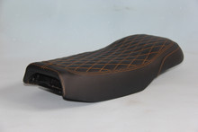 22 inches black cover seat with Orange stitching