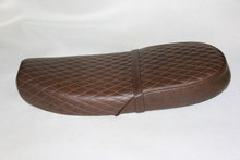 Dark brown cover with diamond pattern