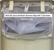 """6570-392 Jacuzzi® Mesh Filter Skimmer Bag 20""""x16"""" with 7 Clip Holes"""