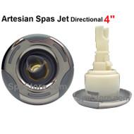 "4"" Jet Artesian Spas, Island Spas Jet Insert, Helix, DIRECTIONAL, Stainless 03-1302-52"