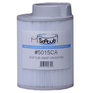 Before July 2009 Softub Filters for Models 140, 220, 300. Snap-On Long Filters 5015, P/N 2005400