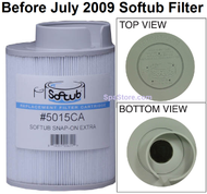 Softub Filters for Models 140, 220, 300. Snap-On Long Filters 5015, P/N 2005400