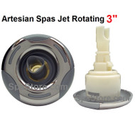 """3"""" Inch Artesian Spa, Island Spa Jet Insert, Rotating Helix Stainless, OP03-1206-52PE, Years 2009-2012"""