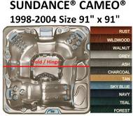 SPA COVER SUNDANCE® SPAS CAMEO® 1998-2004 Wood/Synthetic Cabinet