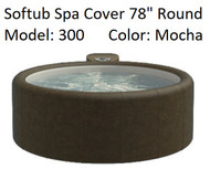 "Softub Cover Model 300 Round 78"" Mocha, Folding, Locking Straps"