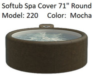 "Softub Cover for Model 220 Round 71"" Mocha, Folding Cover with 4 Qty Locking Straps, FREE SHIPPING"