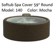 "Softub Cover for Model 140 Round 59"" Mocha, Folding Cover, Locking Straps, FREE SHIPPING"