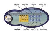 2006 Artesian Island Spas, 8 Button Control Panel 2 Pump OP33-0410-40, LCD