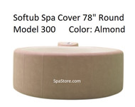 "Softub Cover Lid Top 300+ Round 78"" Almond, Folding Cover, Locking Straps"