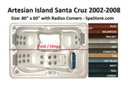 "Artesian Spas Island Santa Cruz Spa Cover Size: 80"" x 60"" Rounded Corners 2002-2008"